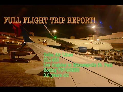 FLIGHT TRIP REPORT: Delta Air Lines DL1435 Los Angeles to Minneapolis/St. Paul (Boeing 737-900ER)