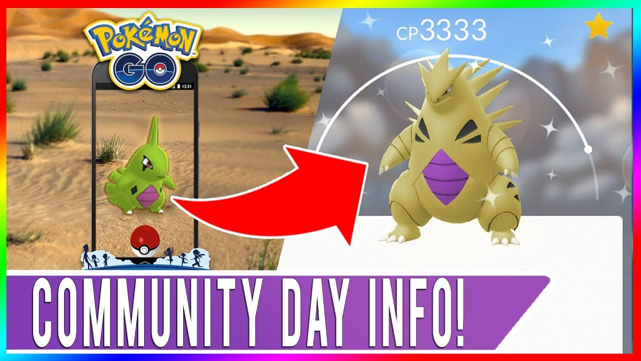 BEST SHINY LARVITAR CLUSTER SPAWN LOCATION FOR COMMUNITY DAY! Smack Down  Tyranitar Time Zone Info