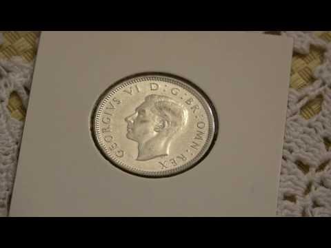 1938 Great Britain Shilling - Scottish Crest 0.500 Silver