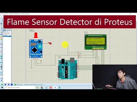 cara-membuat-rangkaian-flame-sensor-simulation-detector-di-proteus