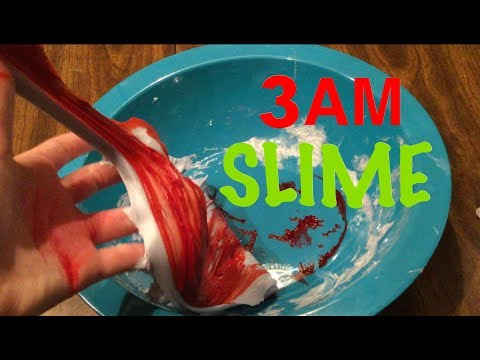 DO NOT MAKE SLIME AT 3AM!! MAKING SLIME AT 3AM CHALLENGE!! SO SCARY!!