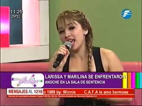 Larissa Riquelme vs Marilina en El Resumen