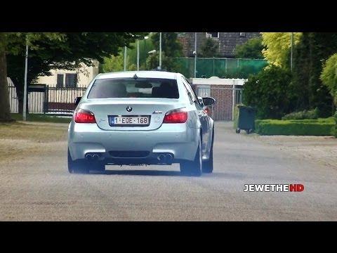 BMW M5 E60 V10 LOUD Exhaust Sounds! POWERSLIDES & Accelerations!