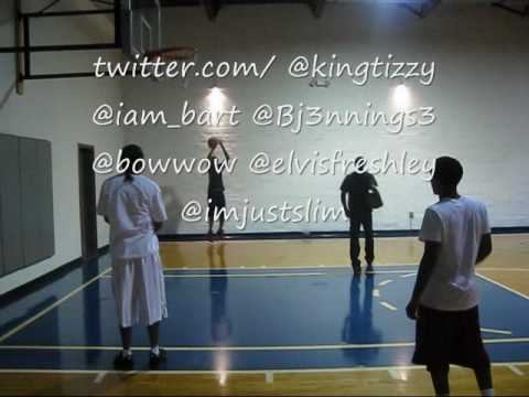 Bow Wow Brandon Jennings And Lou Williams Playing Horse For Fun At