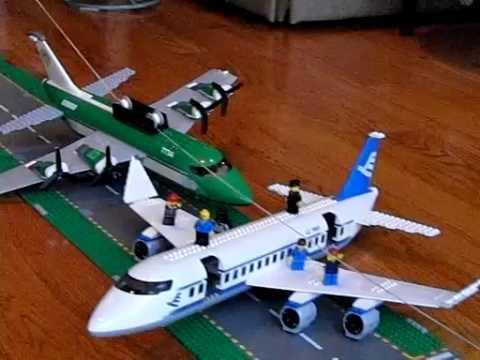 slow motion lego plane crash - YouTube