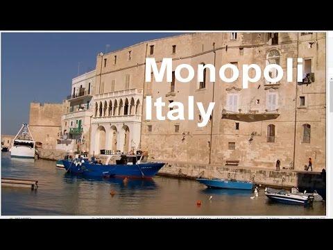 Monopoli Italy, Old Port, Charles V castle, Beach - LVBO Travel Videos