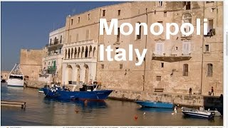 Monopoli Italy, Old Port, Charles V castle, Beach - LVBO Travel Videos