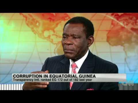 President Obiang valt door de mand (CNN interview Amanpour)