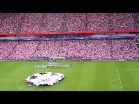 Himno del athletic y de la champions league.San Mames 27-08-2014