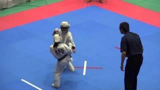 組手 8歳女子(16名) 485中水流梨央VS13 http://kyokushin-shiga.com/?p=...