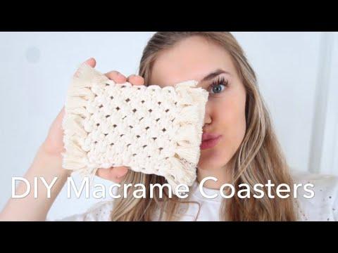 DIY Macrame Coasters - How To Make Macrame Coasters- Coaster Tutorial