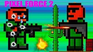 Новая игра A new game PIXEL FORCE 2 бродилка стрелялка экшен Видео для детей много миссий и оружия