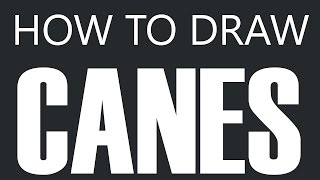 How To Draw A Cane - Walking Cane Drawing (Hook Canes)