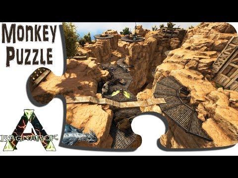 Exploring Ragnarok in Game - Ep 48 - The Start of the Desert Cliffside Village - ARK Map DLC