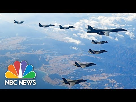 U.S. Supersonic Bomber Leads Attack Drill Over Korean Peninsula | NBC News