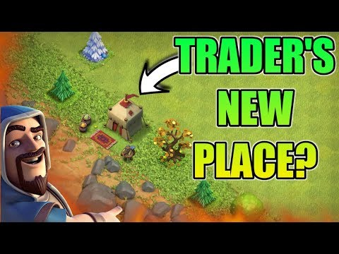 CHANGE YOUR TRADER'S PLACE IN VILLAGE | CLASH OF CLANS NEW UPDATE CONCEPT