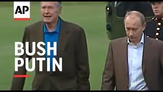 Russian Pres Vladimir Putin arrives at Bush home in Maine - 2007