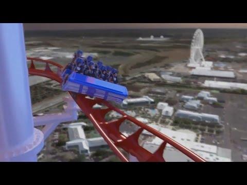World's tallest coaster - Skyscraper coming to Skyplex Orlando - CGI rendering