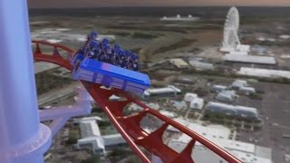 World's tallest coaster - Skyscraper coming to Skyplex Orlando - CGI rendering