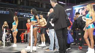Saucedo-Hooker weigh-in