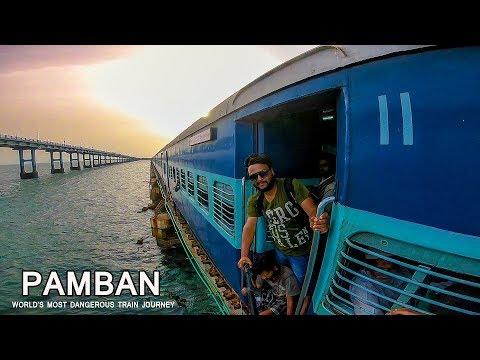 World's Most Dangerous Train Journey - Pamban - Tamilnadu