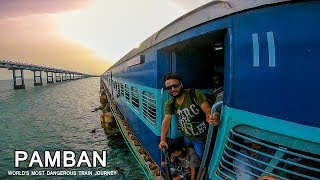 World's most dangerous train journey - Pamban - Tamilnadu