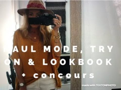 HAUL MODE (soldes et non soldes) & TRY ON AVEC LOOKBOOK + concours !!!!
