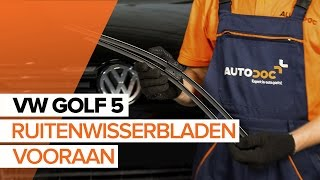 Hoe Wisserbladen vervangen VW GOLF V (1K1) - gratis instructievideo