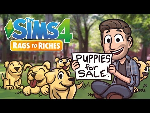 Puppies for Sale | Sims 4 Rags to Riches Ep.3