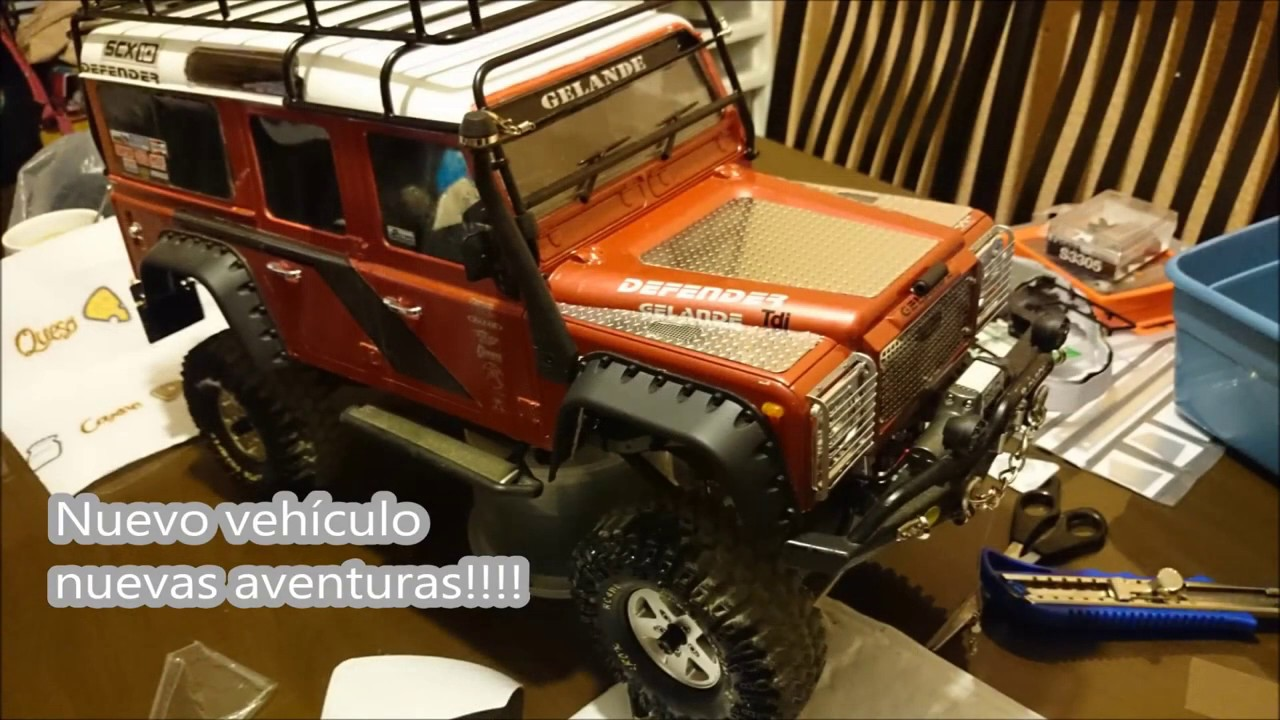 Rc 4x4 Axial Scx10 Land Rover Defender 110 Youtube