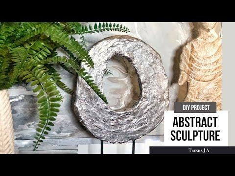 DIY Abstract Sculpture - Table Decor Ideas