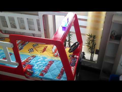 Детская кроватка Пожарная машина своими руками