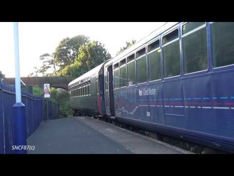 Great Western Class 143 and 153 arrives at Lympstone Village