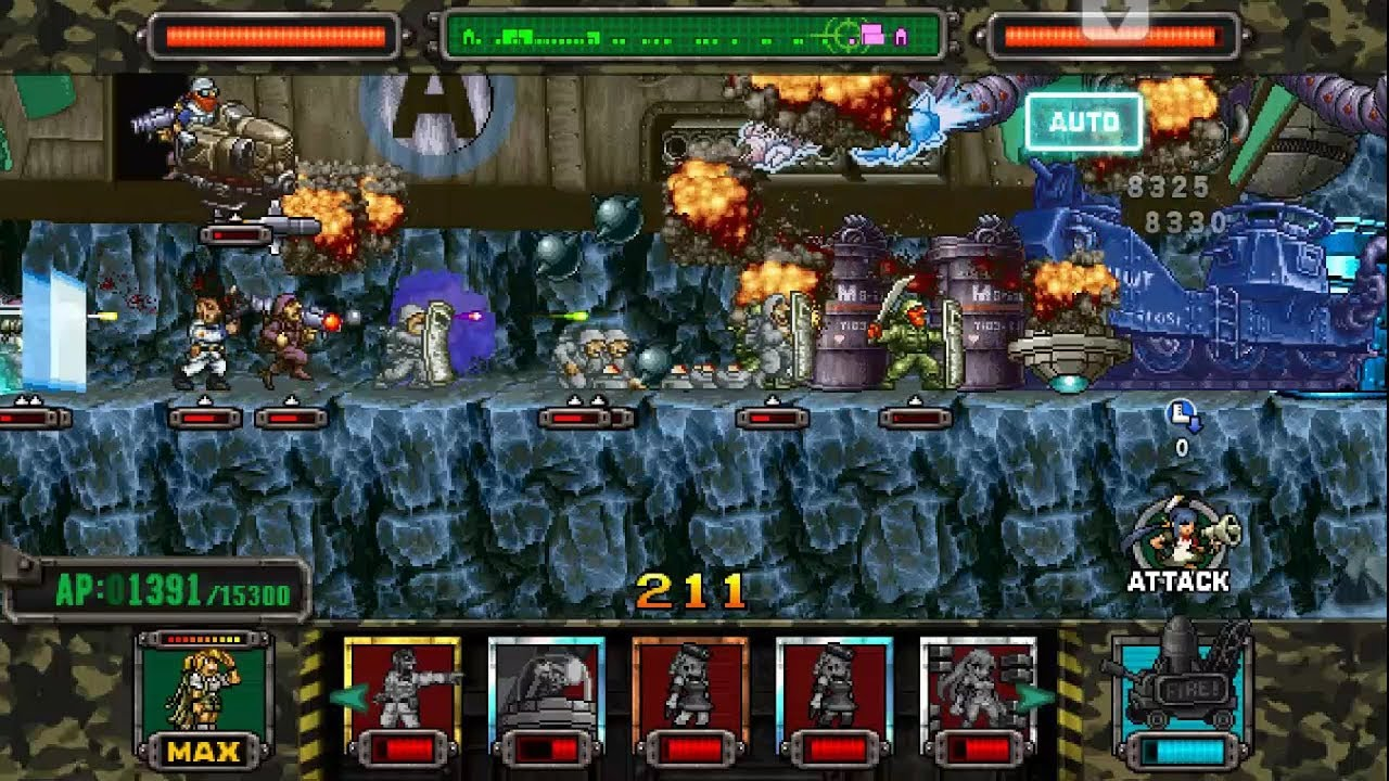 [HD]Metal slug ATTACK  ONLINE! 4 GENERATOR Deck!!! (2 11 0 ver)