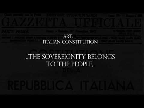 THREAT TO THE ITALIAN CONSTITUTION AND THE WORLD!