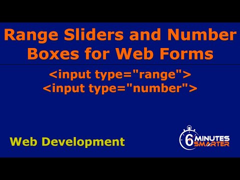 Range Sliders And Number Boxes For A Web Form
