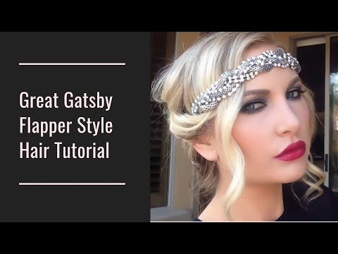 Great Gatsby Flapper Hair Tutorial Youtube