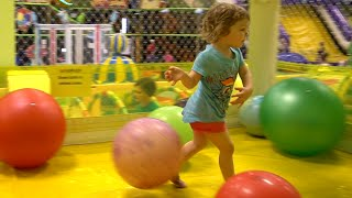 Cute Kid Genevieve Plays at Best Indoor Playground for Kids!