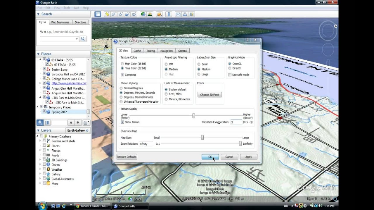 Earth Work In Elevation : Changing elevation exaggeration in google earth youtube