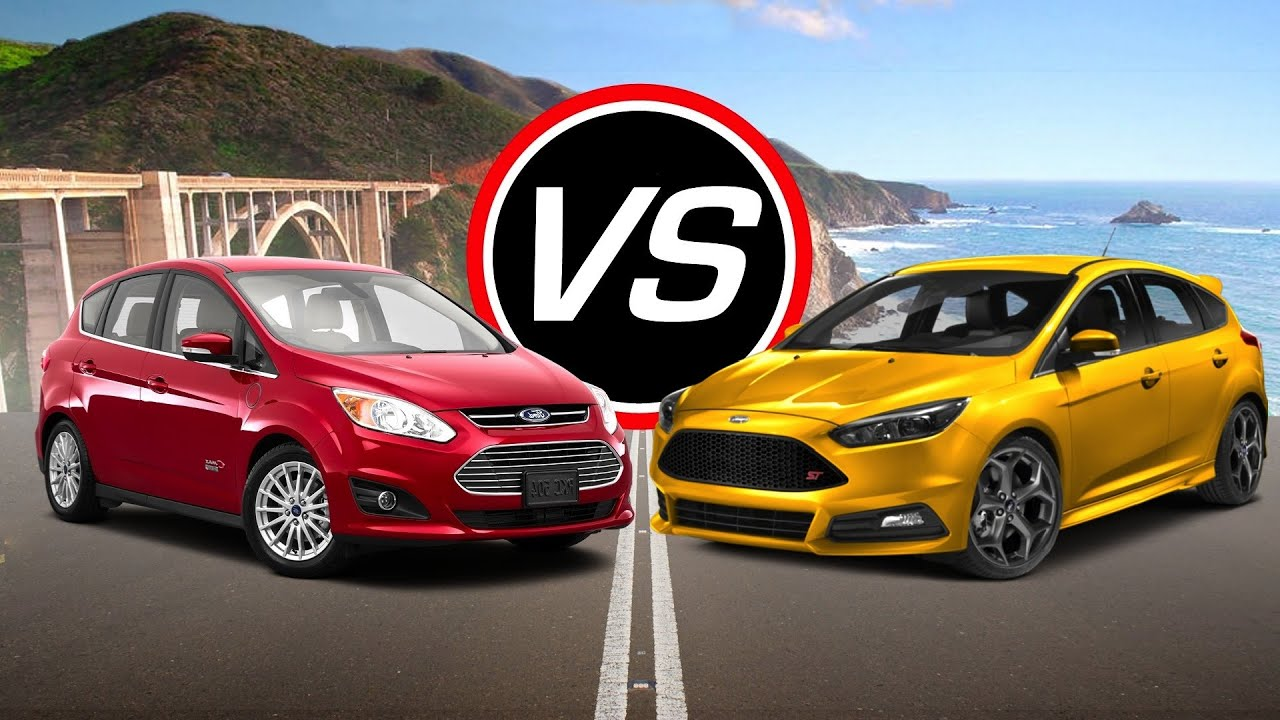 2016 ford c max energi vs 2016 ford focus st spec comparison youtube. Black Bedroom Furniture Sets. Home Design Ideas