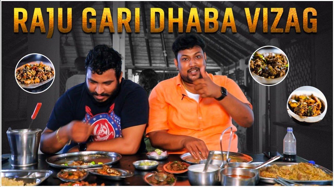 Spicy food at Raju gari Dhaba | Vizag | Chicken Biryani