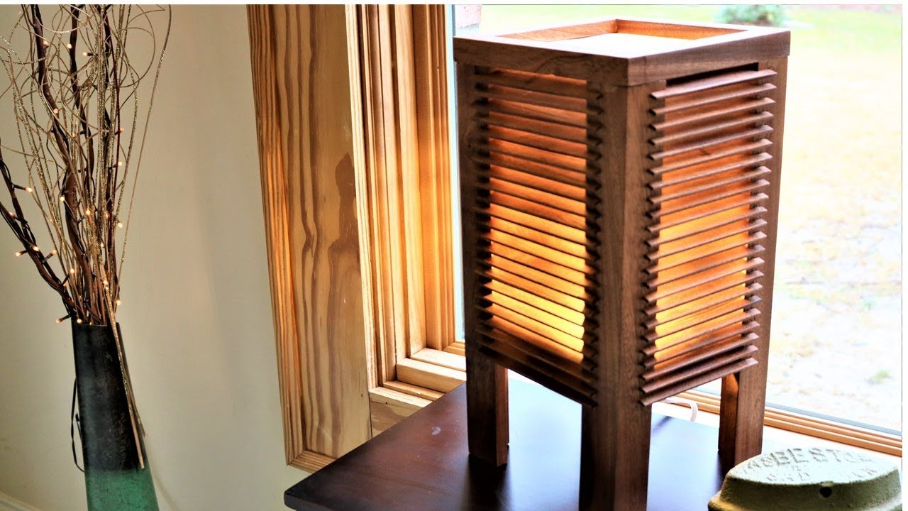 Japanese Inspired Lamp With Wooden Blinds Youtube