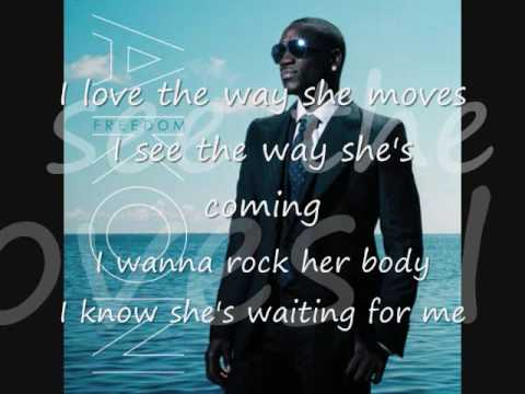 I love The Way She Moves---Akon & Zion (lyrics) HQ