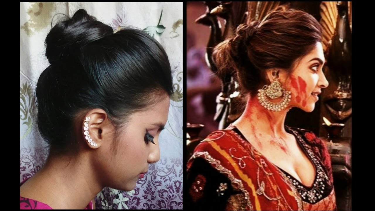 Hairstyle 1 | Diwali Special | Deepika Padukone Inspired ...