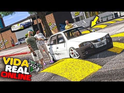 GTA V : VIDA REAL - REBAIXEI UM GOL G4 E COLOQUEI UM SOM TOP !! #354