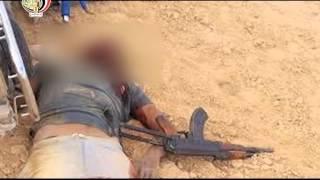 شاهد.. لحظة تصفية 3 إرهابيين حاولوا اقتحام كمين أمني بالشيخ زويد