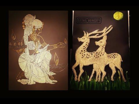 மரத்தூள் வேலைப்பாடு (WOOD DUST ART WORK) BY BEING HUNGRY SRI LANKA