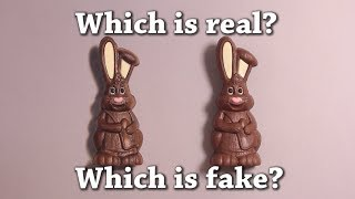 Fun Test: Which is Real? Chocolate Easter Bunny Drawing Challenge!