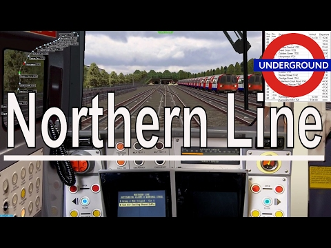 OpenBVE - London Underground Northern Line FULL run of the route   Cab Ride  