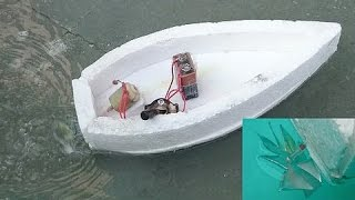 How to Make a Simple Electric Boat - Propeller inside Water